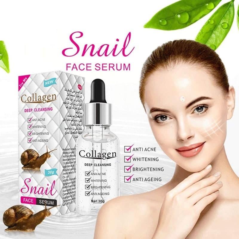 سرم صورت کلاژن ساز و ضد آکنه عصاره حلزون snail serum facial1