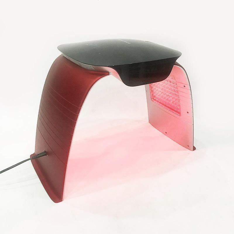 ماسک تونلی ال ای دی نور درمانی 7 رنگ با اسپری سرد و گرم led facial mask