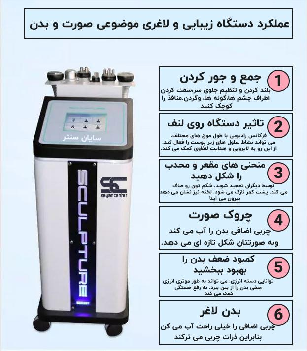 فروش دستگاه لیزر RF کویتیشن لاغری موضعی، فرم دهنده سینه و باسن 6 در 1 برند Amy beauty