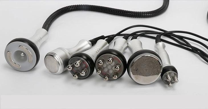 هندپیس های دستگاه لیزر RF کویتیشن لاغری موضعی، فرم دهنده سینه و باسن 6 در 1 برند Amy beauty