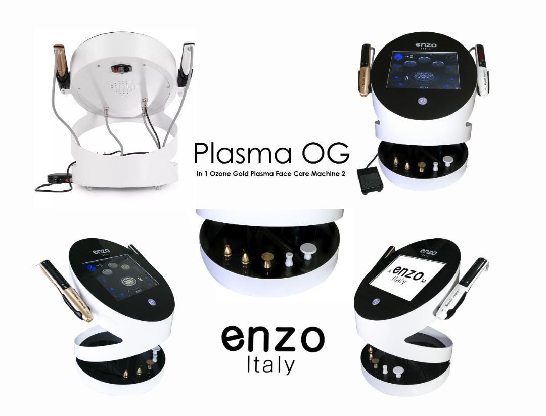 دستگاه مراقبت از زیبایی پلاسما اوزون گلد 2 در 1 برای از بین بردن چین و چروک صورت مارک انزو ایتالی OZONE PALSMA enzo italy